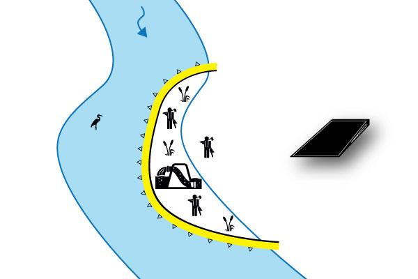 työpato joen suuntaisesti