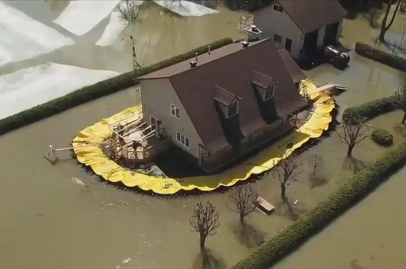 Les barrages souples Water-Gate© protègent une maison contre la montée des eaux