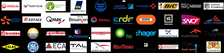 Les références clients de MegaSecur.Europe. Technologie Water-Gate© plébiscitée
