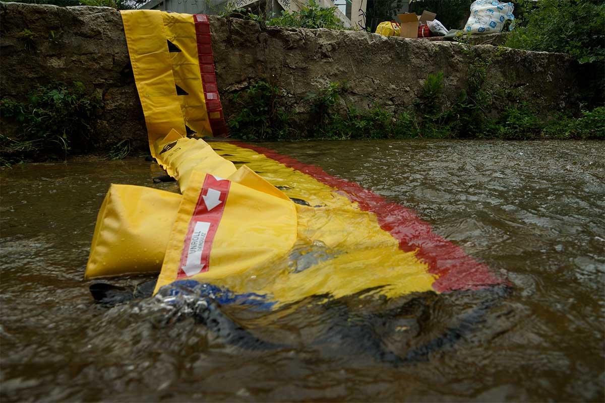 Le Wedge inondation est un sac de lestage profilé imaginé par MegaSecur.Europe